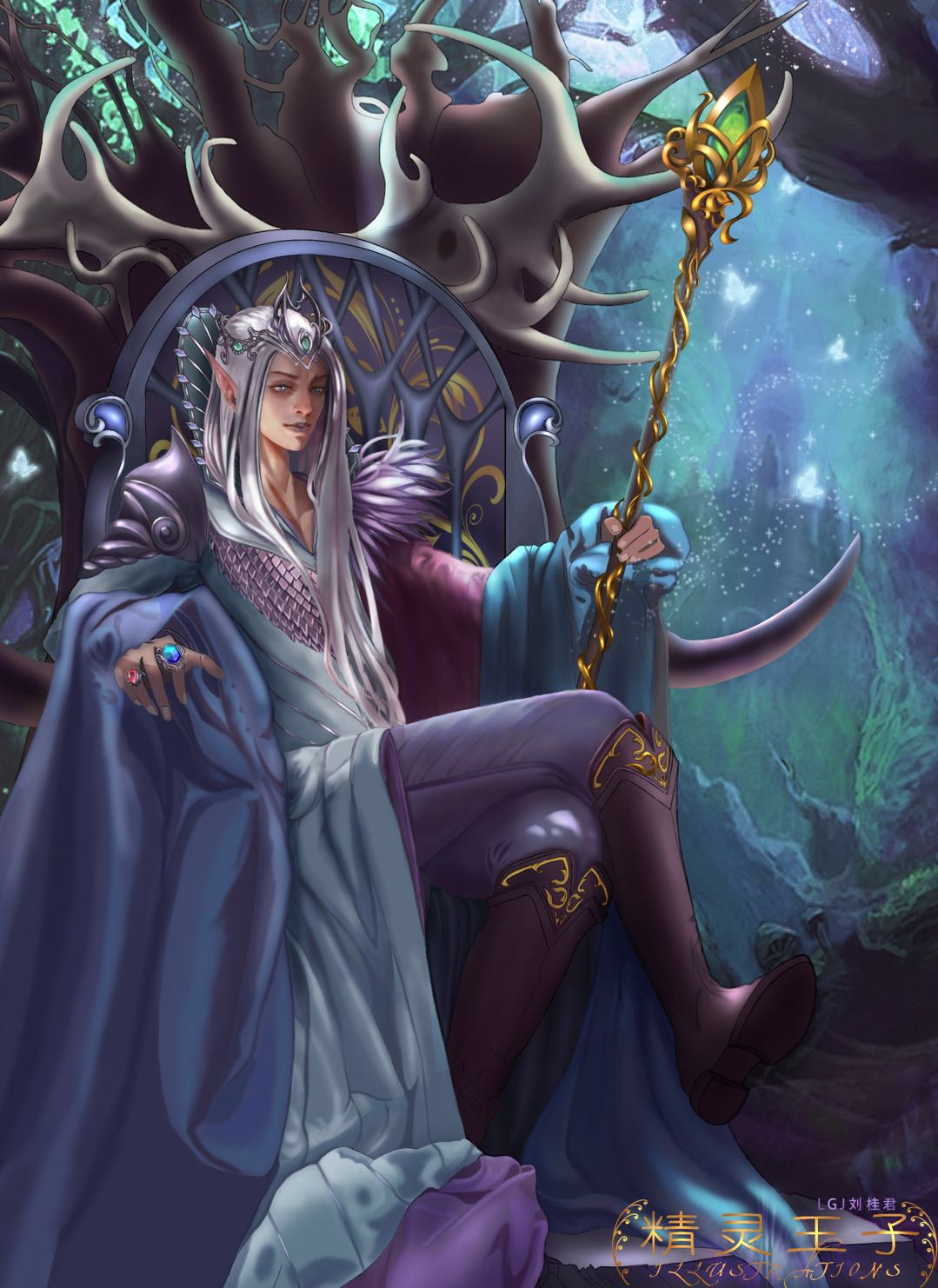 原创原画之精灵王子